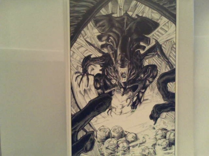 """aliens art template of the mini comic"""