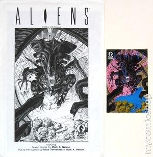 """""""aliens art portfolio envelope and mini comic"""""""